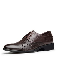 Men's Real Leather Lace-up Derbies Casual Men's Oxfords