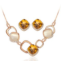 Attractive Alloy/Rhinestones With Opal Ladies' Jewelry Sets