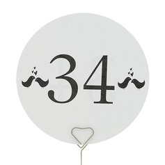 Simple Design Pearl Paper Table Number Cards With Birds