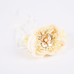 Romantic/Attractive PE/Imitation Pearl Wrist Corsage -