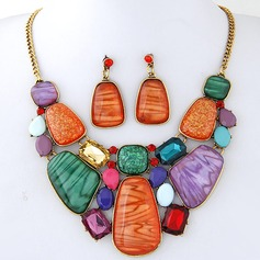 Gorgeous Alloy Resin Women's Jewelry Sets