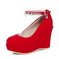 Women's Suede Wedge Heel Platform Wedges shoes
