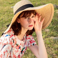 Ladies' Beautiful/Glamourous/Simple/Eye-catching/Pretty/Charming/Fancy/Romantic Raffia Straw Beach/Sun Hats