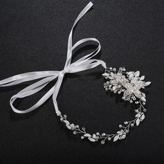 Ladies Pretty Alloy Headbands With Venetian Pearl