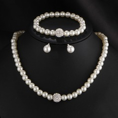 Nice Imitation Pearls With Imitation Pearl Ladies' Jewelry Sets (137117767)