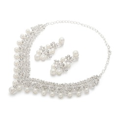 Gorgeous Alloy/Pearl Ladies' Jewelry Sets
