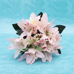Graceful Hand-tied Satin Bridesmaid Bouquets