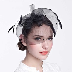 Ladies' Beautiful Net Yarn With Bowknot Fascinators