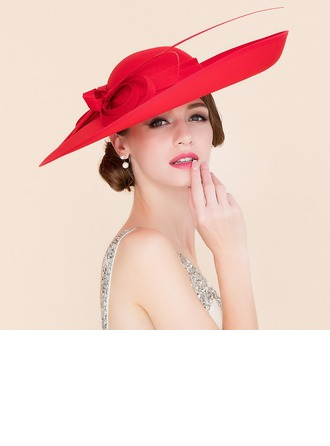 Ladies' Elegant Cambric With Bowknot Bowler/Cloche Hat