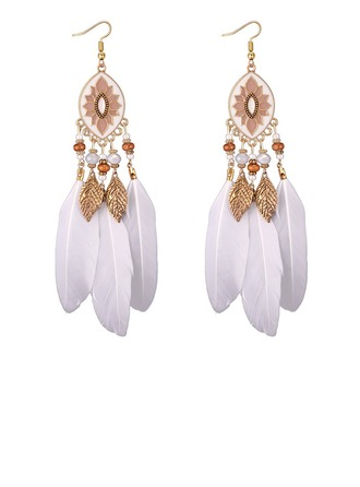 Unique Alloy Feather Acrylic Women's Fashion Earrings