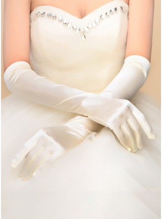 Nylon Opera Length Bridal Gloves