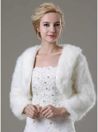 Long Sleeve Faux Fur Fashion Wrap