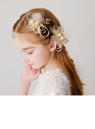 With Imitation Pearls Hairpins (Set of 2)