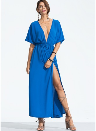 Polyester With Boho Maxi Dress