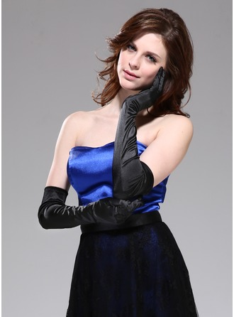 Elastic Satin Opera Length Party/Fashion Gloves