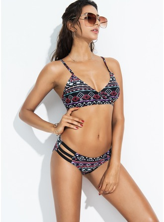 Sexy Colorful Polyester Bikinis Swimsuit