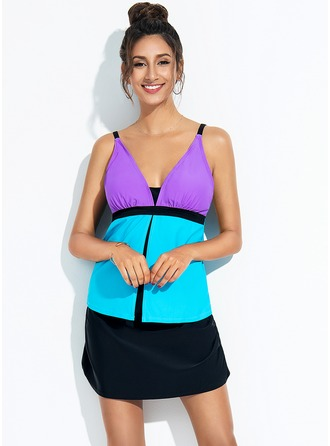Fashional Colorful Polyester Tankinis Swimsuit