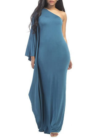 Polyester med Stikking Maxi Kle