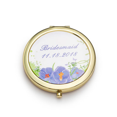 Bridesmaid Gifts - Personalized Fashion Stainless Steel Compact Mirror