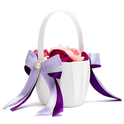 Bridesmaid Gifts - Beautiful Elegant Fashion Satin Flower Basket