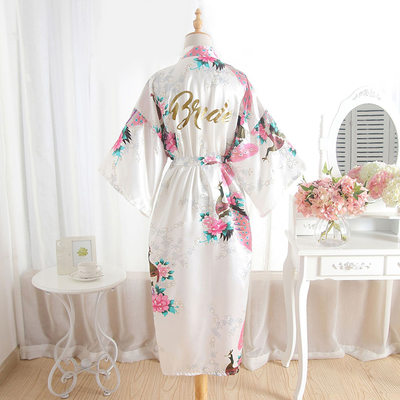 Bride Gifts - Beautiful Classic Elegant Fashion Charmeuse Robe