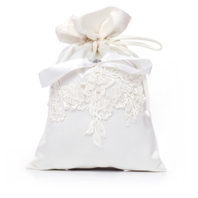 Bridesmaid Gifts - Beautiful Classic Satin Lace Imitation Pearls Bag