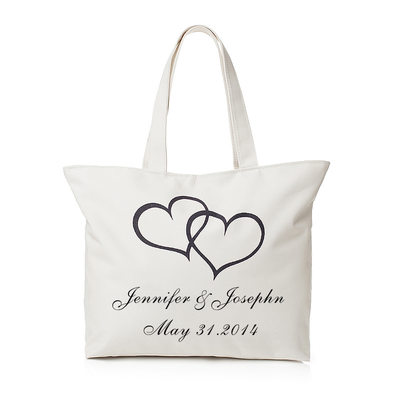Bride Gifts - Personalized Canvas Style Cloth Tote Bag