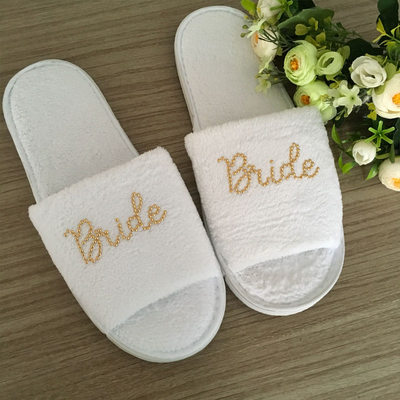 Bride Gifts - Fashion Velvet Cloth Slippers
