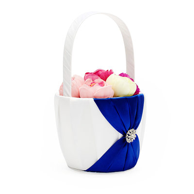 Bridesmaid Gifts - Classic Elegant Fashion Satin Flower Basket