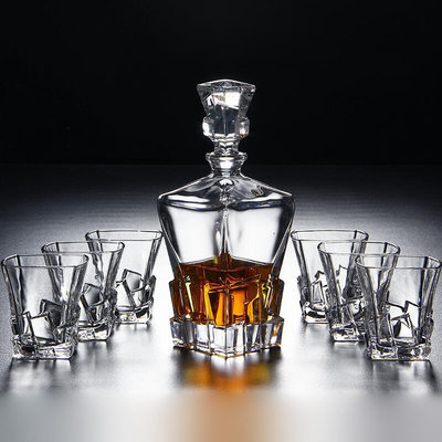 Groomsmen Gifts - Modern Glass Decanter Set