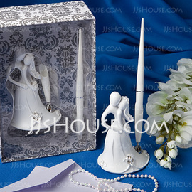 Bride and Groom Design Resin Pen Set