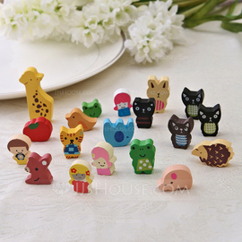Lovely Wooden Fridge Magnets (Set of 19 pieces)