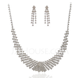 Elegant Alloy With Crystal Ladies' Jewelry Sets (011027583)