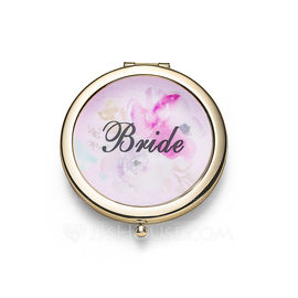 Bride Gifts - Elegant Stainless Steel Compact Mirror ()