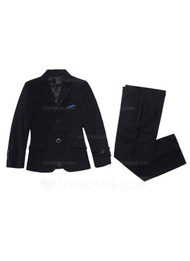 Boys 2 Pieces Solid Ring Bearer Suits /Page Boy Suits With Jacket Vest Pants (287198591)