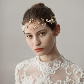 Ladies Glamourous Imitation Pearls Headbands With Venetian Pearl (Sold in single piece) (042182524)