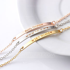 Bridesmaid Gifts - Personalized Beautiful Alloy Bracelet (256178796)