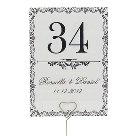 Personalized Artistic Pearl Paper Table Number Cards (Set of 10)