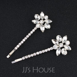 Ladies Lovely Alloy Hairpins (Set of 2) (042109646)