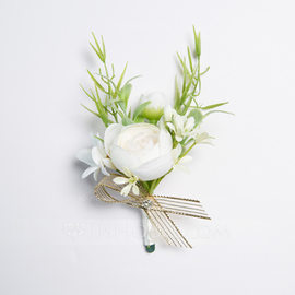 Gorgeous Free-Form Satin Boutonniere (Sold in a single piece) - (123177938)
