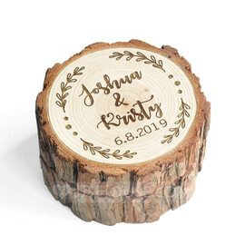 Personalized Rustic Wood Ring Box (103224809)