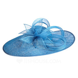 Ladies' Unique/Exquisite/Eye-catching Cambric With Flower Kentucky Derby Hats/Tea Party Hats