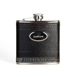 Groomsmen Gifts - Personalized Modern Stainless Steel Flask (258176294)