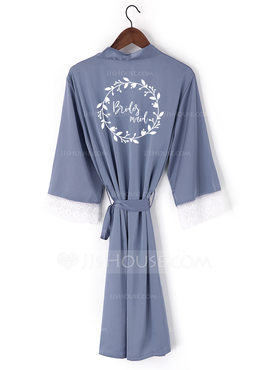 Personalized Lace Bride Bridesmaid Mom Junior Bridesmaid Lace Robes Embroidered Robes (248199966)