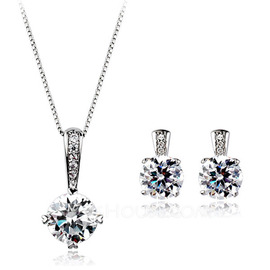 Shining Alloy/Cubic Zirconia Jewelry Sets (011051749)