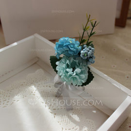 Hand-tied Silk Flower Boutonniere (Sold in a single piece) - Boutonniere (123182682)