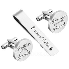 Groom Gifts - Personalized Modern Alloy Cufflinks Tie Clip (257188743)