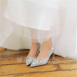 Women's Sparkling Glitter Chunky Heel Platform With Sequin shoes (085209458)