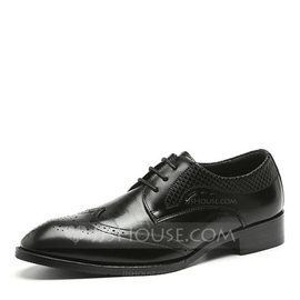 Men's Leatherette Lace-up Brogue Dress Shoes Men's Oxfords (259187614)