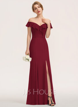 Off the Shoulder Sleeveless Maxi Dresses (293250409)
